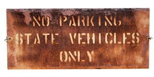 Signe de stationnement d'école Photo stock
