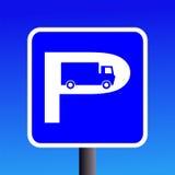 Signe de stationnement de camion Images stock