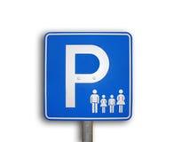 Signe de stationnement de famille Image stock