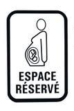 Signe de stationnement de femme enceinte Image stock