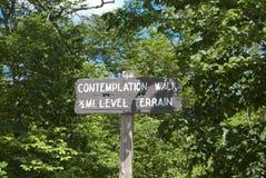Signe de stationnement de promenade de prévision Images libres de droits