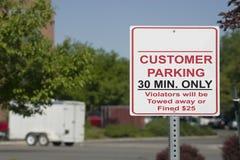 Signe de stationnement de propriétaire Image stock