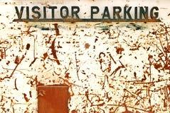 Signe de stationnement de visiteur Photo stock