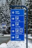Signe de stationnement de Whistler Images libres de droits