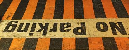 Signe de stationnement interdit Image libre de droits