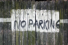Signe de stationnement interdit d'allée Photo libre de droits