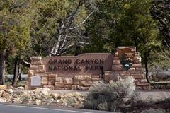Signe de stationnement national de canyon grand photo libre de droits