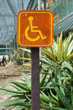 Signe de stationnement pour des gens de débronchement. Image libre de droits