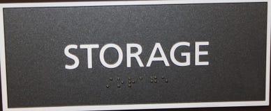 Signe de stockage photographie stock