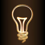 signe de style de Feu-exposition de lampe Photos libres de droits
