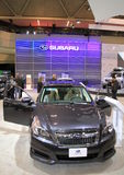 Signe de Subaru et nouveau modèle Photo libre de droits
