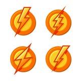 Signe de super héros avec les icônes instantanées réglées Vecteur Photo libre de droits