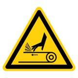 Signe de symbole de commande par courroie d'abrasion de main, illustration de vecteur, isolat sur le label blanc de fond EPS10 illustration libre de droits