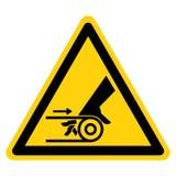 Signe de symbole de commande par courroie d'enchevêtrement de main, illustration de vecteur, isolat sur le label blanc de fond EP illustration de vecteur