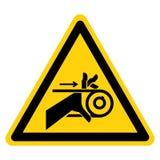 Signe de symbole de commande par courroie d'enchev?trement de main, illustration de vecteur, isolat sur le label blanc de fond EP illustration stock