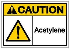 Signe de symbole d'acétylène de précaution, illustration de vecteur, isolat sur le label blanc de fond EPS10 illustration de vecteur