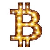 Signe de symbole de Bitcoin illustration de vecteur