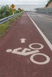 Signe de symbole de cyclistes Images libres de droits