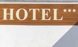 Signe de symbole de *** d'hôtel Photo libre de droits