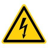 Signe de symbole de l'?lectricit? de danger, illustration de vecteur, isolat sur le label blanc de fond EPS10 illustration de vecteur