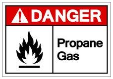 Signe de symbole de propane de danger, illustration de vecteur, isolat sur le label blanc de fond EPS10 illustration de vecteur