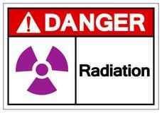 Signe de symbole de rayonnement de danger, illustration de vecteur, isolat sur le label blanc de fond EPS10 illustration stock