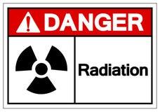 Signe de symbole de rayonnement de danger, illustration de vecteur, isolat sur le label blanc de fond EPS10 illustration de vecteur