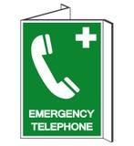 Signe de symbole de téléphone d'urgence, illustration de vecteur, d'isolement sur le label blanc de fond EPS10 illustration de vecteur