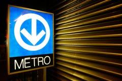 Signe de système de souterrain de Montréal photographie stock