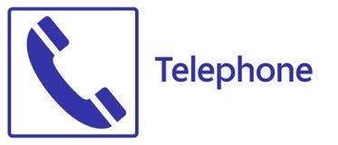 Signe de téléphone Photo stock