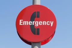 Signe de téléphone de secours Photos stock