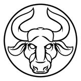 Signe de Taurus Bull Astrology Horoscope Zodiac illustration libre de droits
