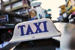 Signe de taxi Image libre de droits