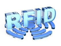 Signe de technologie de RFID illustration stock