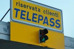 Signe de Telepass Images libres de droits