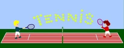 Signe de tennis Images libres de droits