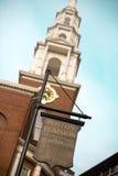 Signe de terrain communal de Boston Photos libres de droits