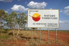 Signe de territoire du nord Image stock