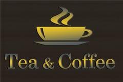 Signe de thé et de café Images stock