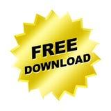 Signe de téléchargement gratuit Photo stock