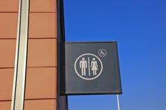 Signe de toilette Photos stock