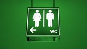 Signe de toilette photographie stock