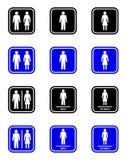 Signe de toilette illustration libre de droits