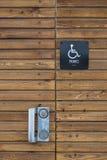 signe de toilette d'handicap images libres de droits