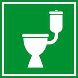 Signe de toilette de carte de travail Photographie stock