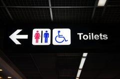 Signe de toilettes Photo stock