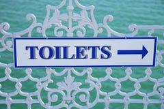 Signe de toilettes Photographie stock