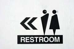 Signe de toilettes Photographie stock libre de droits