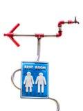 Signe de toilettes Image stock