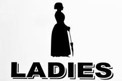 Signe de toilettes de dames image stock